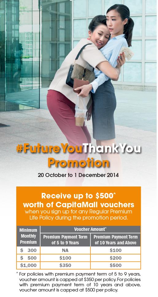 NTUC Income FutureYou Thank You Promotion….