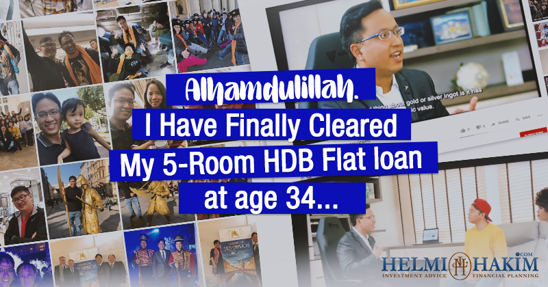 Alhamdulillah. I Have Finally Cleared My 5-Room HDB Flat loan at age 34….